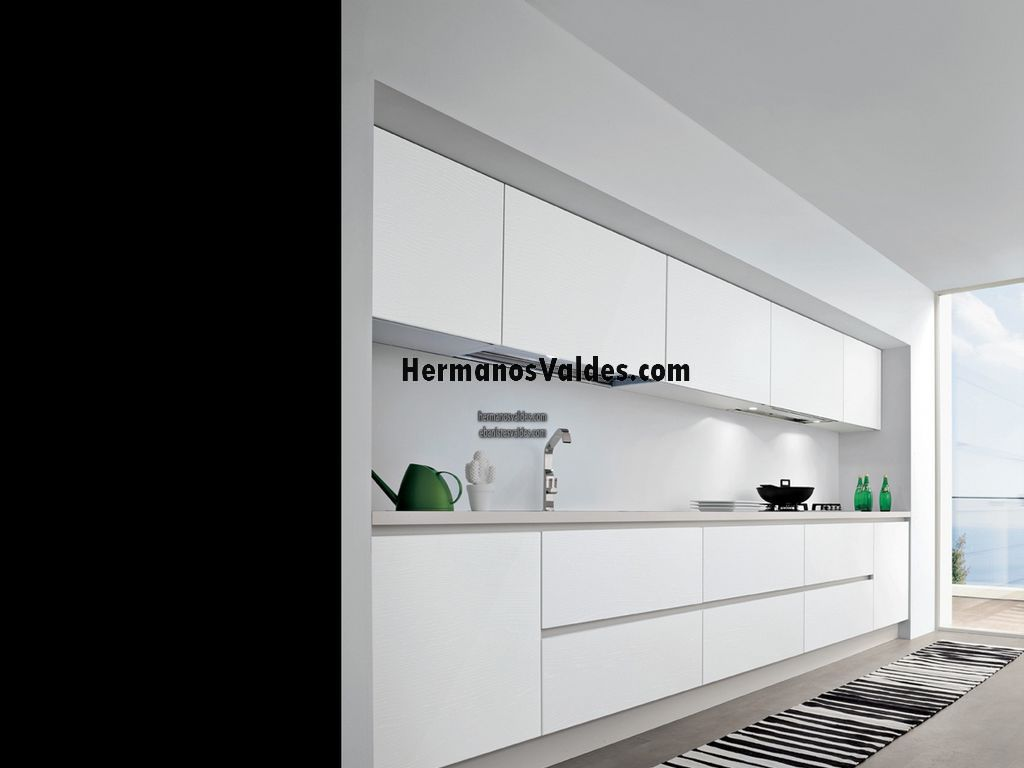 Ref 2055 - Cocina blanca mate o brillo ...