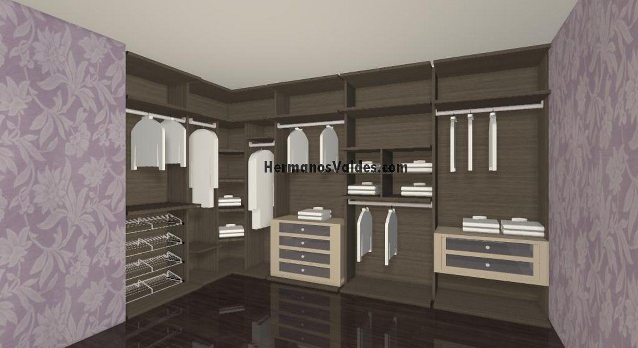Productos armarios y vestidores vestidores ref 4085 - Armarios a medida alicante ...