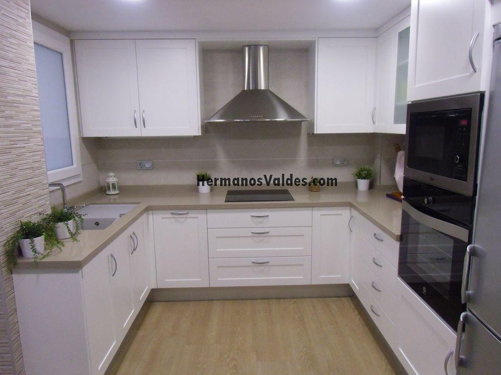 Muebles de cocina en blanco cool muebles de cocina blanco - Muebles de cocina blancos ...